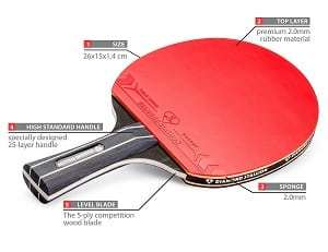 Diamond Stallion High Tech Ping Pong Paddle