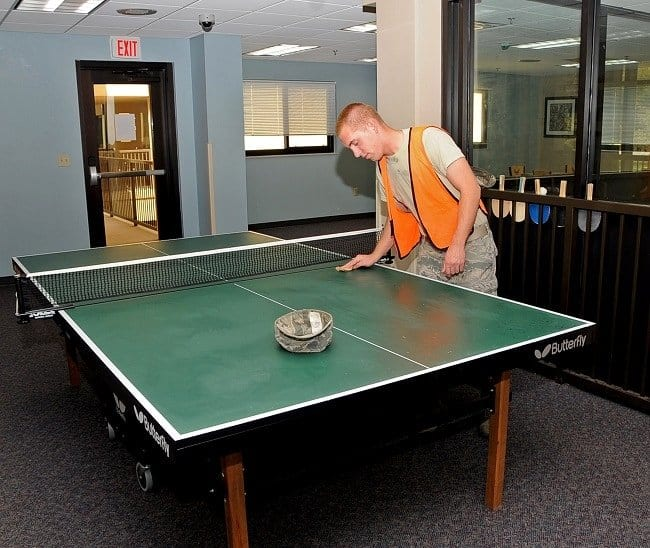 Clean a Ping Pong Table