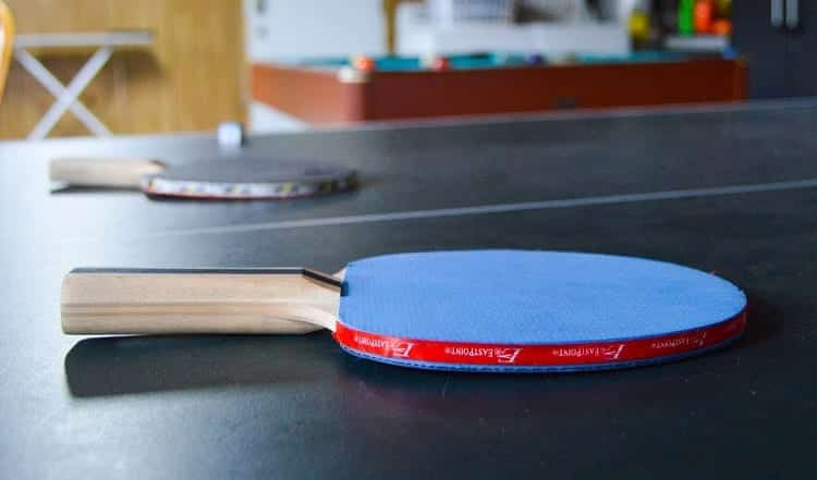 Two Paddles On Table