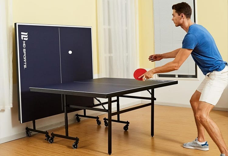 Man Playing Single Player Ping Pong