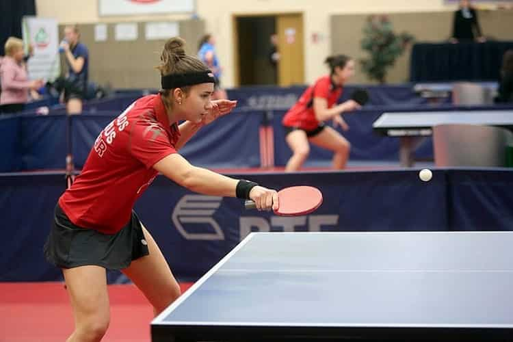 Girl Playing Table Tennis