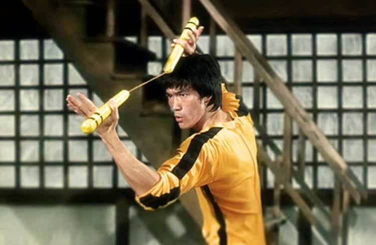 Bruce Lee With Nunchucks