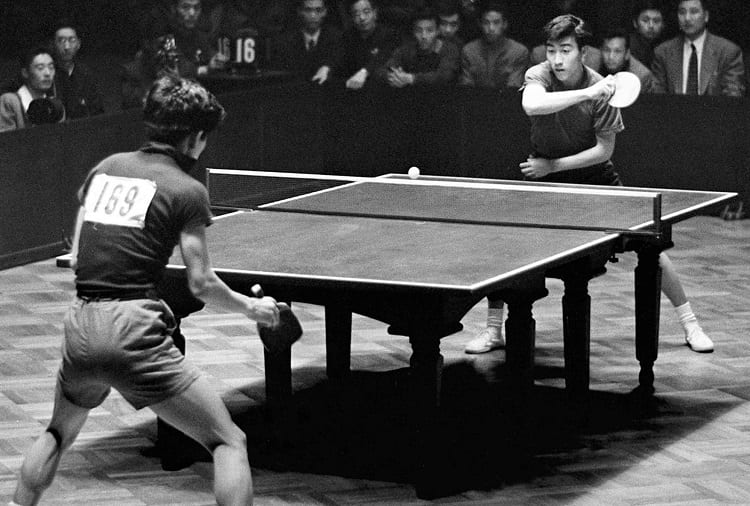 Playing Ping Pong In 1950's