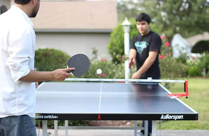 Playing Table Tennis Outside