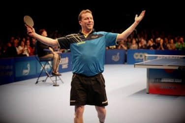Jan-Ove Waldner Celebrating