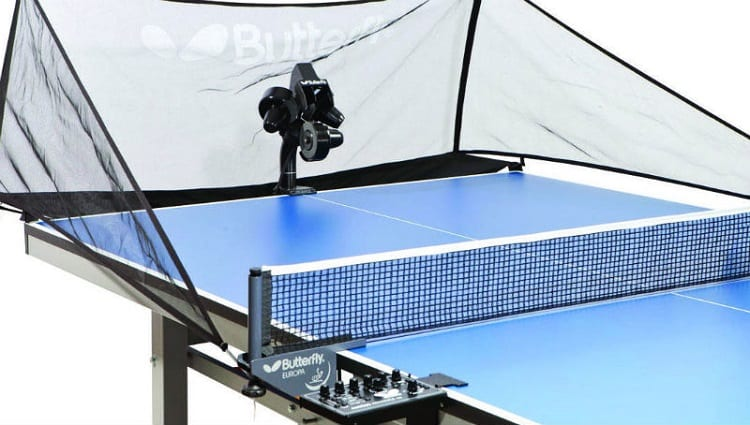 amicus robot for table tennis mounted